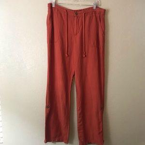 Merona Linen-Blend Convertible Pants w Tabbed Legs
